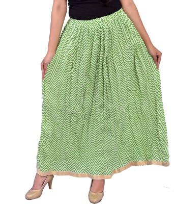Trendy Divva Printed Women Straight Multicolor Skirt