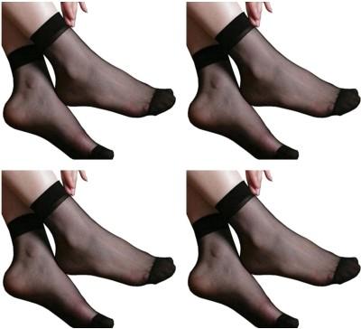 NAWAB Women Solid Ankle Length Socks(Pack of 4)