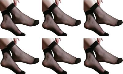 NAWAB Women Solid Ankle Length Socks(Pack of 6)