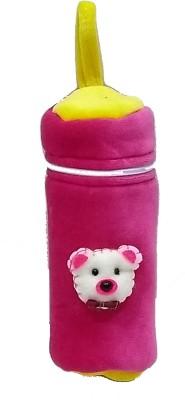 GoodStart Baby feeding bottle cover in velvet of 240ml capacity(Pink)