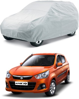 HMS Car Cover For Maruti Suzuki Alto K10 (Without Mirror Pockets)(Silver, For 2008, 2009, 2006, 2007, 2013, 2005, 2014, 2015, 2012, 2011, 2010, 2016, 2017 Models)