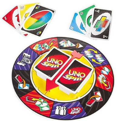 Krypton UNO Spin Wheel Card Family Board Game(Multicolor)  available at flipkart for Rs.589