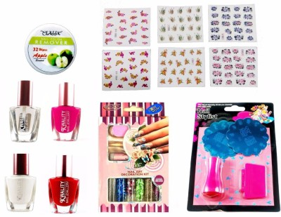 Compare Nail Art Stamping Kit Decoration 5 Large Image Plates Gift