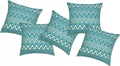 acasa Abstract Cushions Cover(Pack of 5, 45 cm*45 cm, Blue)