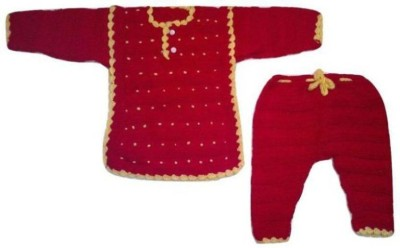 Cutiepie Collections Baby Boys & Baby Girls Casual Sweater Dress(Red)