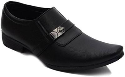 Shoes cart Black Men's Formal Synthetic Leather Shoes For Men(Black)