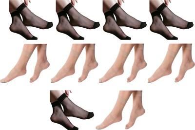 NAWAB Women Ankle Length Socks(Pack of 10)