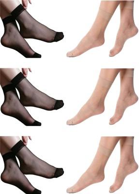 NAWAB Women Ankle Length Socks(Pack of 6)