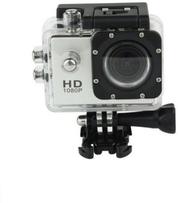 Technuv Action Shot Full HD 12MP 1080P Black Helmet Sports Action Waterproof Sports and Action Camera(Black 12 MP) 1
