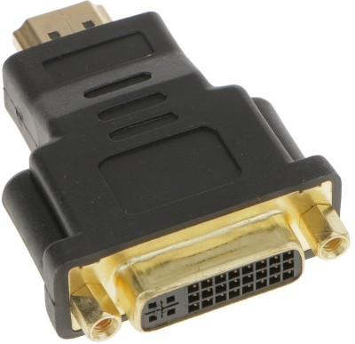 LipiWorld TV-out Cable HDMI Male TO DVI female Gold Plated Adapter/Coupler/Converter(Black, For Laptop)