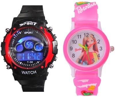 9b9ff2c09c01 blutech redsports+barbie pink small Watch - For Boys   Girls Watches ( blutech)