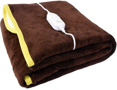 warmland Plain Single Electric Blanket Brown(1 Blanket)  available at flipkart for Rs.799