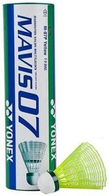 Yonex 'Mavis 07' Nylon Shuttle Cock (Pack of 6)- Badminton Kit  available at flipkart for Rs.555
