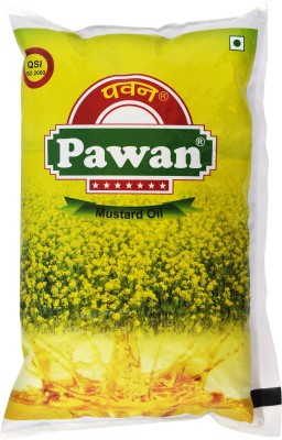 Pawan Pure Mustard Oil 1 L  available at flipkart for Rs.130