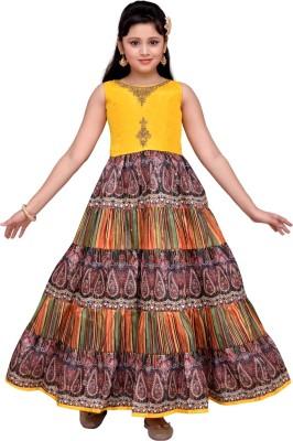 ec534523447d 53% OFF on Hunny Bunny Girls Maxi Full Length Party Dress(Yellow ...