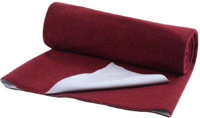 Quick Dry Cotton Baby Bed Protecting Mat Mat The Breathable Waterproof Laminated Fabric Mat Small (0.7 m x 0.5 m)(Maroon, Small)  available at flipkart for Rs.150