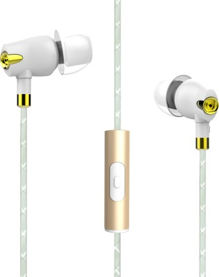 boAt Nirvaanaa Bliss Wired Headset with Mic(Glazy White, In the Ear) 1