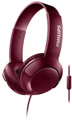 Philips SHL3075RD/00 Wired Headset with Mic(Red, Over the Ear)
