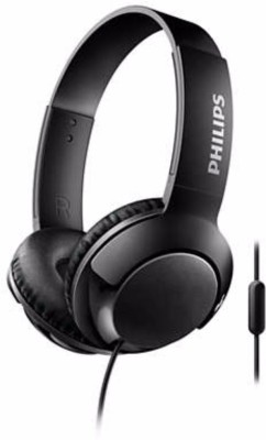 Philips SHE1515BK/94/IN-SHE1515BK/94 Wired Headset with Mic(Black, In the Ear)