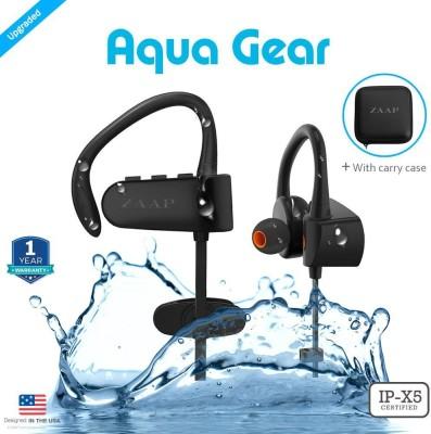 Zaap AQUA GEAR Bluetooth Headset without Mic(Black, In the Ear)