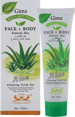 Gima Trading Company Natural Aloevera Cleansing Scrub Gel Silky and Soft for Face and Body 100 ml (Made in Japan) Scrub(100 ml)  available at flipkart for Rs.449