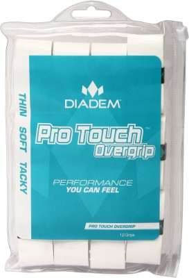 Diadem Pro Touch Grip Tacky Touch  Grip(White, Pack of 12)