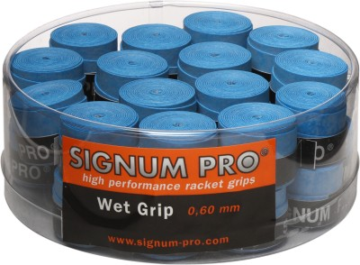 Signum Pro Wet Grip 0.60 mm Tacky Touch  Grip(Blue, Pack of 30)