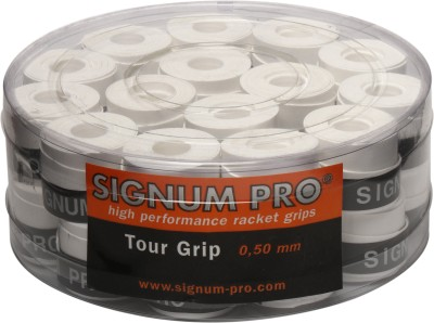Signum Pro Tour Grip 0.5 mm Tacky Touch  Grip(White, Pack of 30)