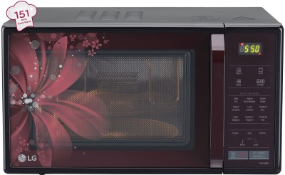 LG MC2146BRT 21 Lts Convection Microwave Oven Red & Black
