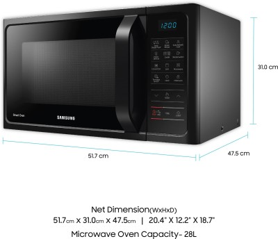 Samsung MC28H5023AK 28 Lts Convection Microwave Oven Black