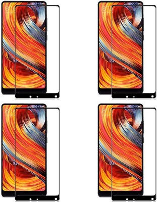 Chappie Moustache Edge To Edge Tempered Glass for Mi Mix 2(Pack of 4)