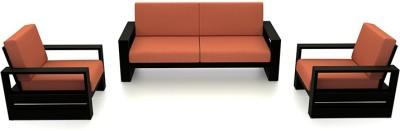 Urban Ladder Serra Wooden Fabric 3 + 1 + 1 Teak Sofa Set