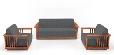 Urban Ladder Parsons Wooden Fabric 3 + 1 + 1 Mahogany Sofa Set