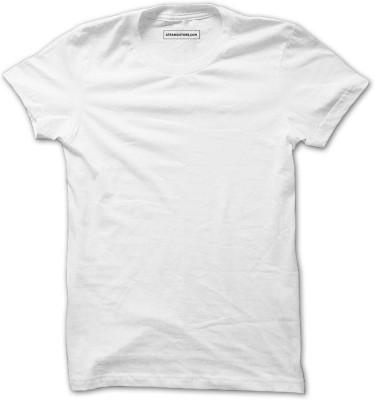 Supremo Solid Men & Women Round Neck White T-Shirt