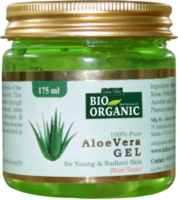 Indus Valley BIO Organic 100% Pure Aloe Vera Gel(175 ml)