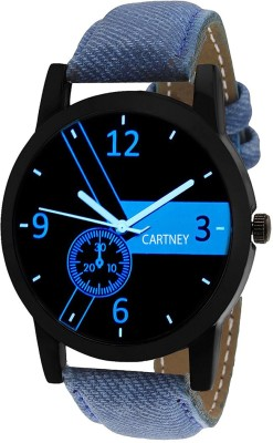 Cartney Analog Black Dial Leather Strap Watch  - For Men   Watches  (cartney)