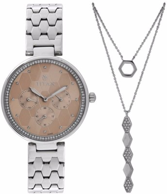 Titan 95059SM01F Whimsy Analog Watch For Women