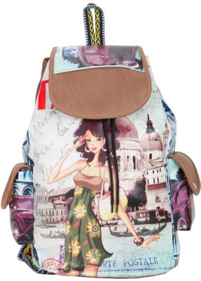 view bags STYLIST2 10 L Backpack(Multicolor)  available at flipkart for Rs.299
