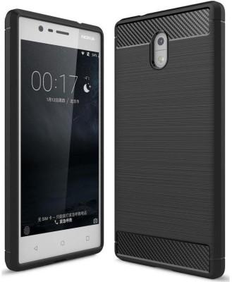 Mocell Back Cover for Nokia 3(Hybrid Black, Shock Proof, Flexible Case) Flipkart