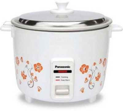 Panasonic SR-WA10H(E) Electric Rice Cooker(1.2 L, White)  available at flipkart for Rs.1900