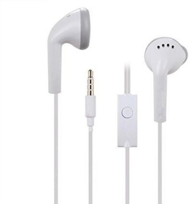 blutech Latest Handsfree compatible Samsung YS and all Android Mobile 3.5mm jack Earphone All smartphones. Wired Headset with Mic(White, On the Ear)