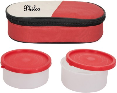 Lush 2 in 1 Red Lunchbox 2 Plastic Container 2 Containers Lunch Box 400 ml