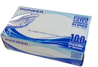 Pioneer Non sterile examination gloves Latex Examination Gloves(Pack of 100)