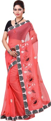 Jai Bholenath Fashions Embroidered Bollywood Net Saree(Red) Flipkart