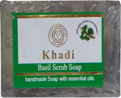 khadikhazana Khadi basil scrub soap 125grams(125 g)
