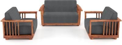 Urban Ladder Serra Wooden Fabric 2 + 1 + 1 Teak Sofa Set