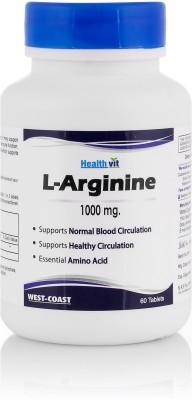 Healthvit L-Arginine 1000mg Supplements (60 Tablets)
