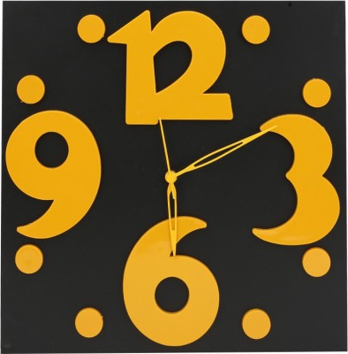 Blacksmith Analog 32.38 cm X 32.38 cm Wall Clock(Black, Without Glass) at flipkart