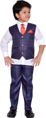 ee32b0d11 AJ Dezines Boys Shirt Waistcoat and Pant Set Grey Pack of 1 Best ...