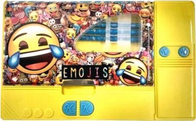 Osilor Premium Jumbo Series Emojis Character Art Plastic Pencil Box(Set of 1, Yellow)